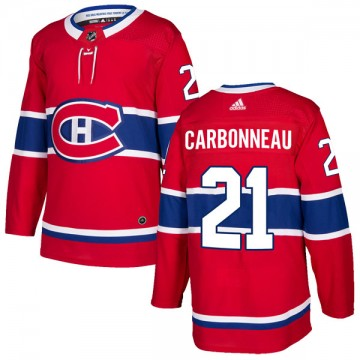 Authentic Adidas Men's Guy Carbonneau Montreal Canadiens Home Jersey - Red
