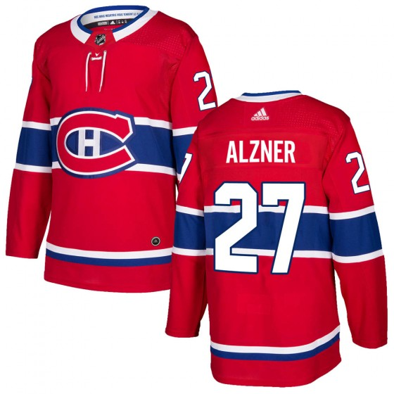Authentic Adidas Men's Karl Alzner Montreal Canadiens ized Home Jersey - Red