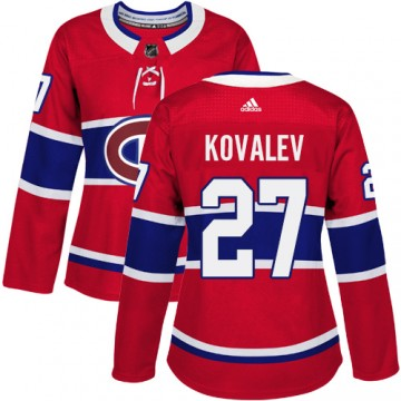 Authentic Adidas Women's Alexei Kovalev Montreal Canadiens Home Jersey - Red