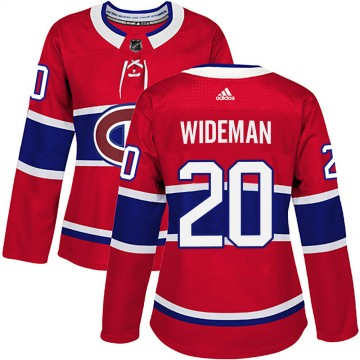 Authentic Adidas Women's Chris Wideman Montreal Canadiens Home Jersey - Red