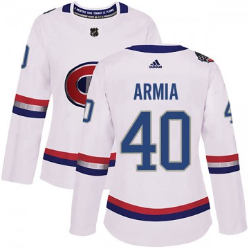 Authentic Adidas Women's Joel Armia Montreal Canadiens 2017 100 Classic Jersey - White