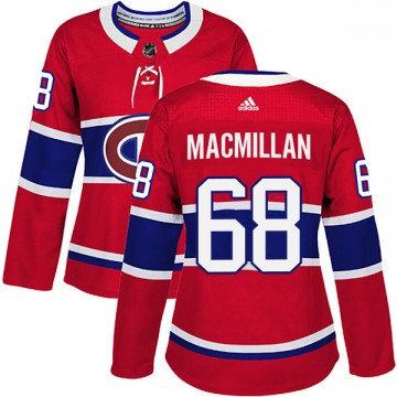 Authentic Adidas Women's Mark MacMillan Montreal Canadiens Home Jersey - Red