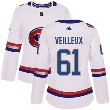 Authentic Adidas Women's Yannick Veilleux Montreal Canadiens 2017 100 Classic Jersey - White