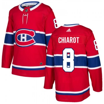 Authentic Adidas Youth Ben Chiarot Montreal Canadiens Home Jersey - Red