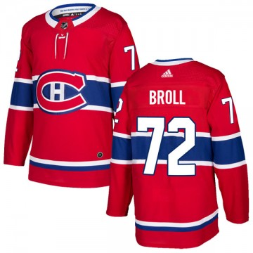 Authentic Adidas Youth David Broll Montreal Canadiens Home Jersey - Red