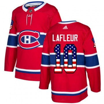 Authentic Adidas Youth Guy Lafleur Montreal Canadiens USA Flag Fashion Jersey - Red