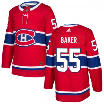 Authentic Adidas Youth Justin Baker Montreal Canadiens Home Jersey - Red