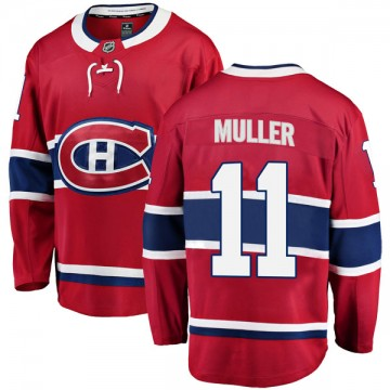 Breakaway Fanatics Branded Men's Kirk Muller Montreal Canadiens Home Jersey - Red